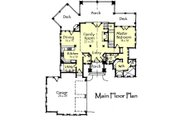 Craftsman Style House Plan - 3 Beds 3.5 Baths 3236 Sq/Ft Plan #921-17 Floor Plan - Main Floor