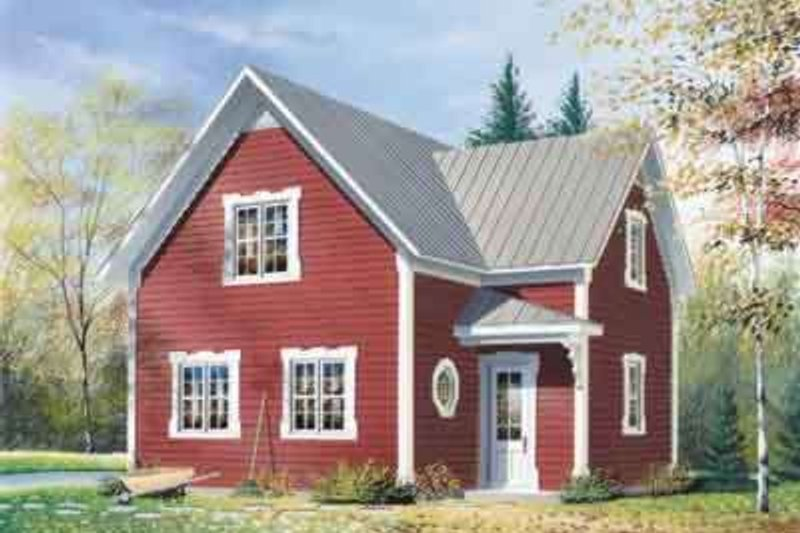 Home Plan - Country Exterior - Front Elevation Plan #23-226