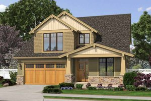 Home Plan - Craftsman Exterior - Front Elevation Plan #48-458