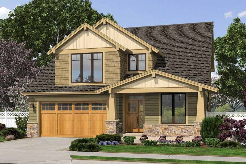 Craftsman Exterior - Front Elevation Plan #48-458