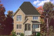 European Style House Plan - 3 Beds 1 Baths 3212 Sq/Ft Plan #138-181 Exterior - Front Elevation