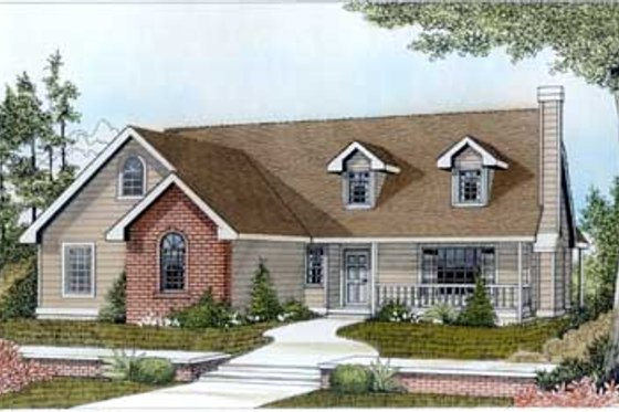 Country Exterior - Front Elevation Plan #102-103