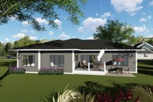 Architectural House Design - Ranch Exterior - Rear Elevation Plan #70-1423