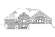 Dream House Plan - Traditional Exterior - Rear Elevation Plan #5-317