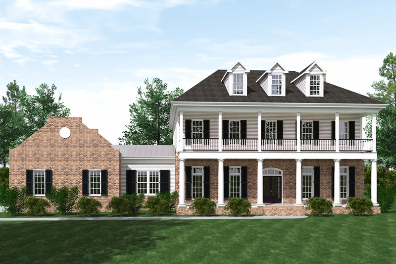 Southern Exterior - Front Elevation Plan #1071-19