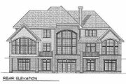 Traditional Style House Plan - 4 Beds 3.5 Baths 3800 Sq/Ft Plan #70-539 Exterior - Rear Elevation