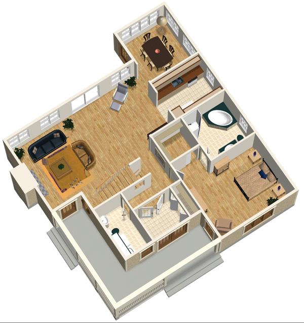 Country Floor Plan - Main Floor Plan #25-4744