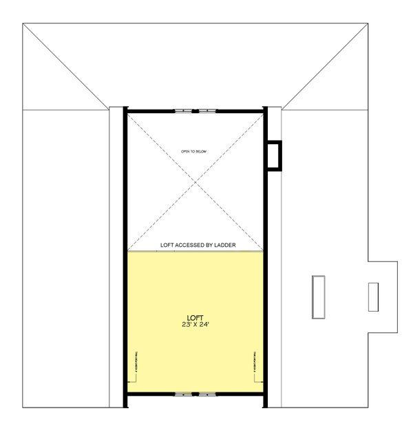 Modern Farmhouse style plan 888-7 upper floor