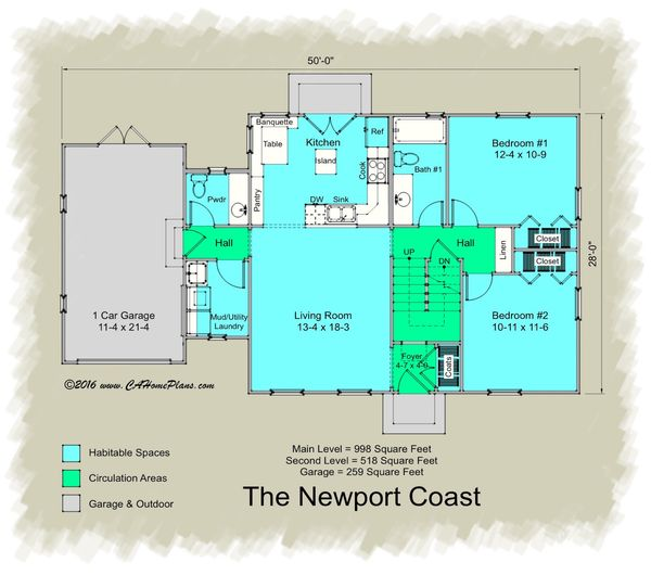 Colonial Floor Plan - Main Floor Plan Plan #489-7