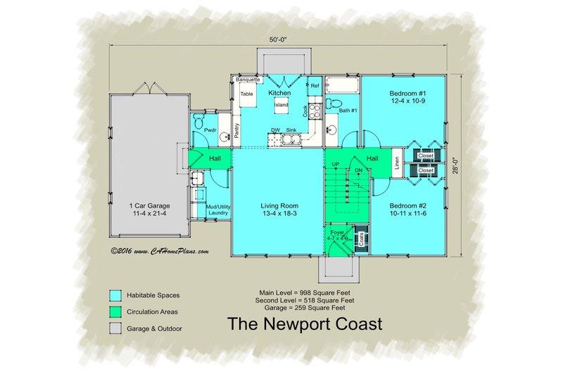 Colonial Floor Plan - Main Floor Plan Plan #489-7
