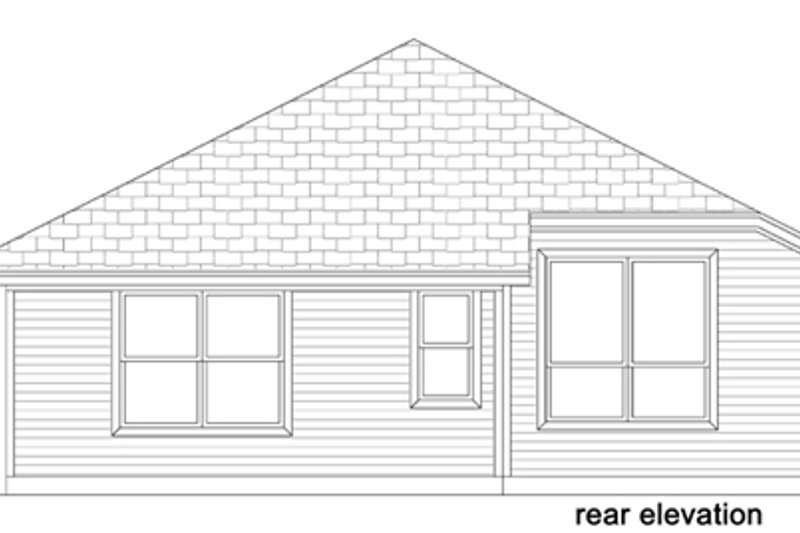 Traditional Exterior - Rear Elevation Plan #84-565 - Houseplans.com