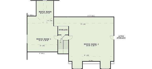 Craftsman Floor Plan - Upper Floor Plan Plan #17-2376