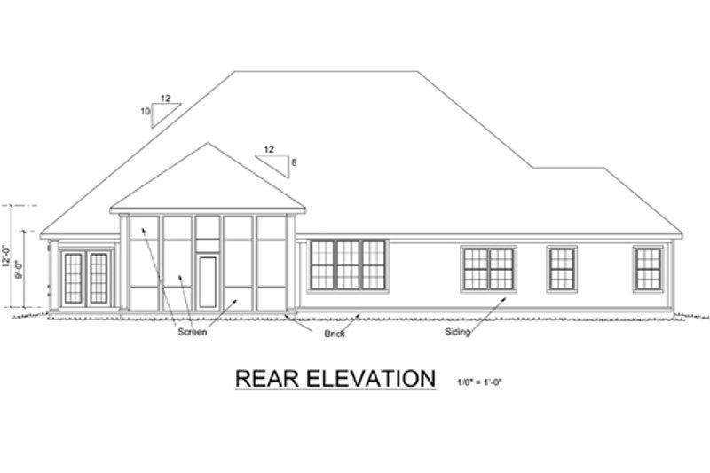 Traditional Exterior - Rear Elevation Plan #513-2045 - Houseplans.com