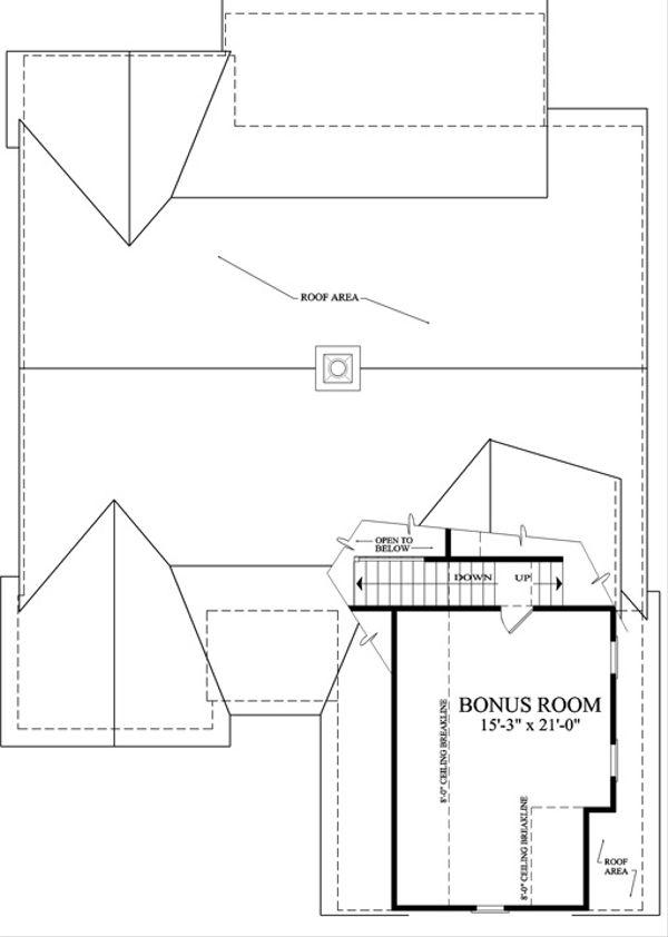 Traditional Floor Plan - Upper Floor Plan Plan #137-250