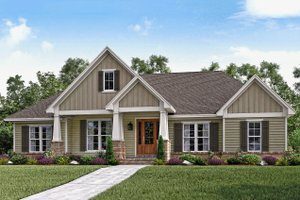 Craftsman Exterior - Front Elevation Plan #430-141