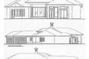 Mediterranean Style House Plan - 3 Beds 4 Baths 2944 Sq/Ft Plan #115-120 Exterior - Rear Elevation