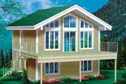 Traditional Style House Plan - 3 Beds 2 Baths 1248 Sq/Ft Plan #25-2280 Exterior - Front Elevation