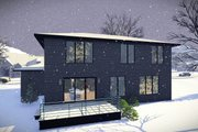 Modern Style House Plan - 4 Beds 2.5 Baths 2321 Sq/Ft Plan #70-1466 Exterior - Rear Elevation