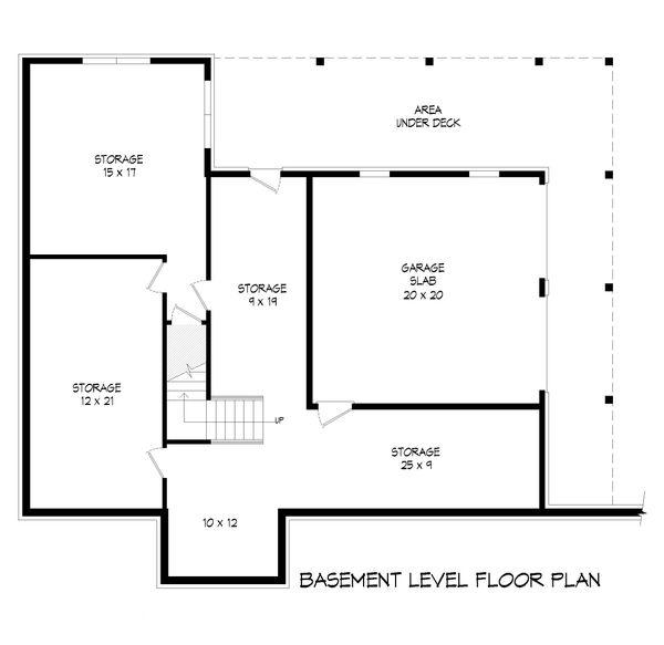 Farmhouse Floor Plan - Lower Floor Plan Plan #932-34