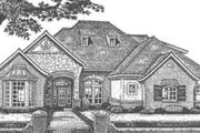 European Style House Plan - 4 Beds 3.5 Baths 3027 Sq/Ft Plan #310-493 Exterior - Front Elevation