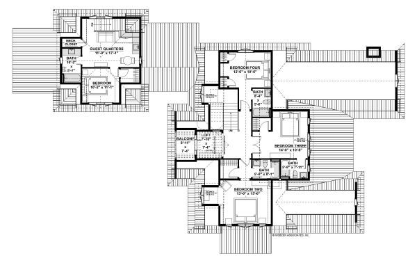 Country Floor Plan - Upper Floor Plan Plan #928-337