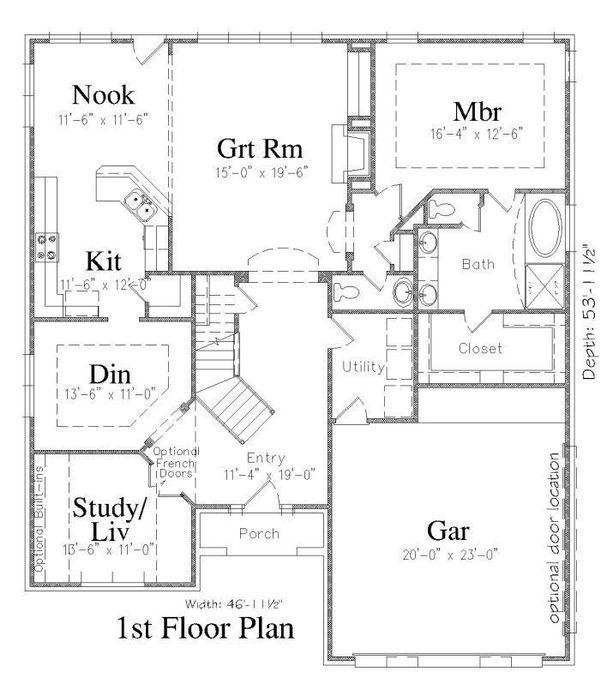 Floor Plan - Main Floor Plan Plan #329-346