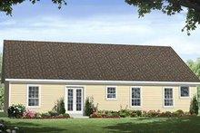 Home Plan - Ranch Exterior - Rear Elevation Plan #21-165