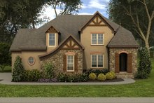 Tudor Exterior - Front Elevation Plan #413-888