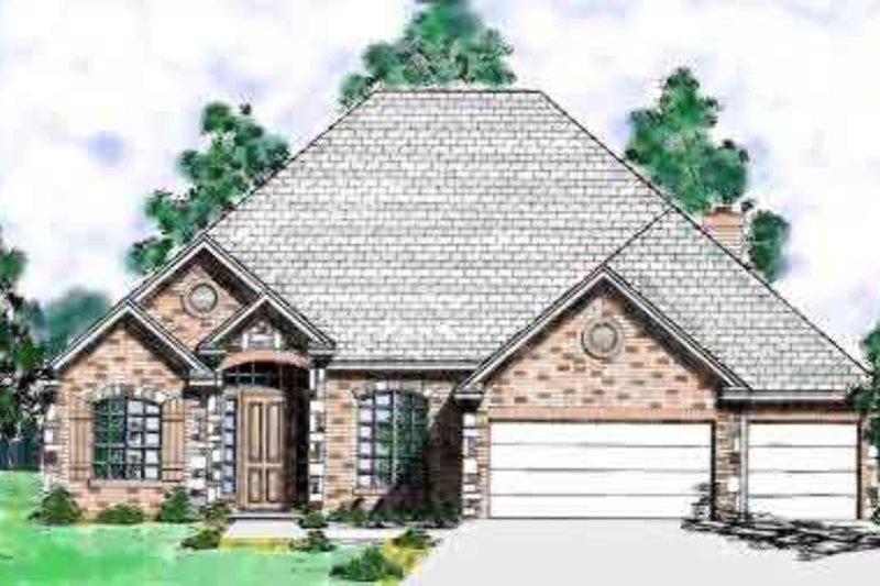 European Style House Plan - 3 Beds 3 Baths 2647 Sq/Ft Plan #52-183