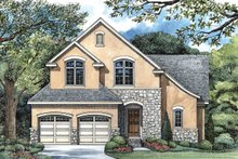 Dream House Plan - European Exterior - Front Elevation Plan #20-1406