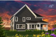 Craftsman Style House Plan - 4 Beds 4 Baths 2996 Sq/Ft Plan #70-1231 Exterior - Rear Elevation