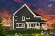 Craftsman Exterior - Rear Elevation Plan #70-1231