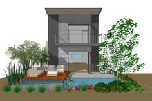 Contemporary Exterior - Rear Elevation Plan #484-14