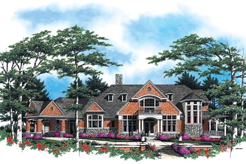 Craftsman Exterior - Front Elevation Plan #48-616