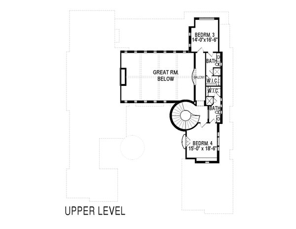 Mediterranean Floor Plan - Upper Floor Plan Plan #920-66