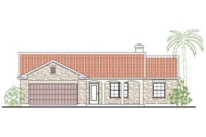 Home Plan - Mediterranean Exterior - Front Elevation Plan #80-135