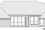 Traditional Style House Plan - 4 Beds 3 Baths 2768 Sq/Ft Plan #84-594 Exterior - Rear Elevation