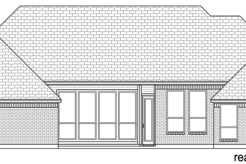 Traditional Exterior - Rear Elevation Plan #84-594 - Houseplans.com