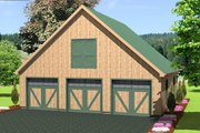 Country Style House Plan - 0 Beds 0 Baths 1994 Sq/Ft Plan #75-211 Exterior - Front Elevation