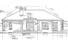 Ranch Exterior - Rear Elevation Plan #3-232