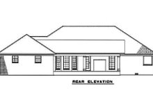 Home Plan - Traditional Exterior - Rear Elevation Plan #17-2293
