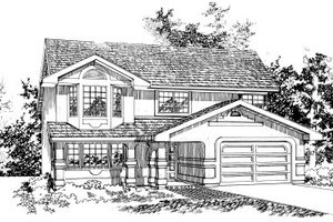 Traditional Exterior - Front Elevation Plan #47-579