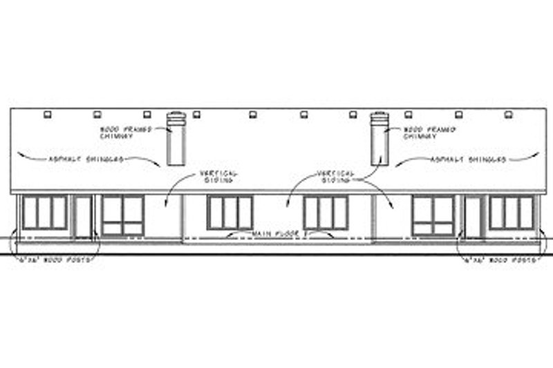 Traditional Exterior - Rear Elevation Plan #20-1557 - Houseplans.com
