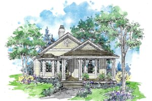 Craftsman Exterior - Front Elevation Plan #970-1