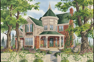 Victorian Exterior - Front Elevation Plan #25-4763