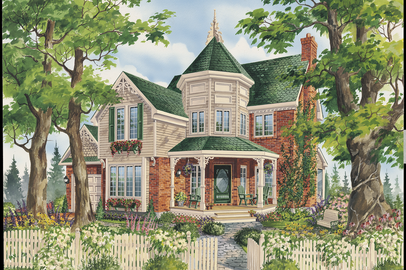 Victorian Style House Plan - 3 Beds 1 Baths 1856 Sq/Ft Plan #25-4763 Exterior - Front Elevation