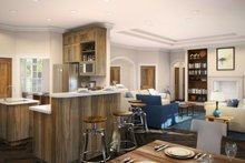 Craftsman Interior - Family Room Plan #124-732