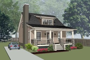 Home Plan - Bungalow Exterior - Front Elevation Plan #79-206