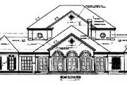 Southern Style House Plan - 4 Beds 6 Baths 5474 Sq/Ft Plan #45-179 Exterior - Rear Elevation