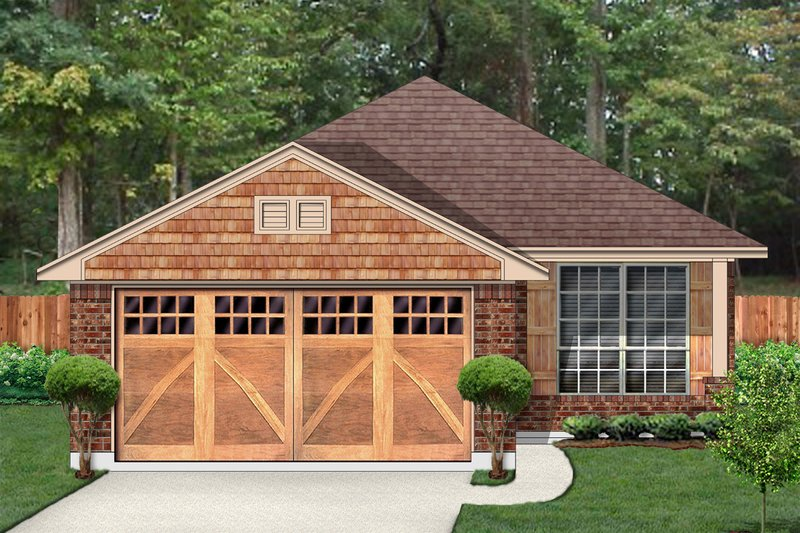 Country Style House Plan - 3 Beds 2 Baths 1420 Sq/Ft Plan #84-636 Exterior - Front Elevation